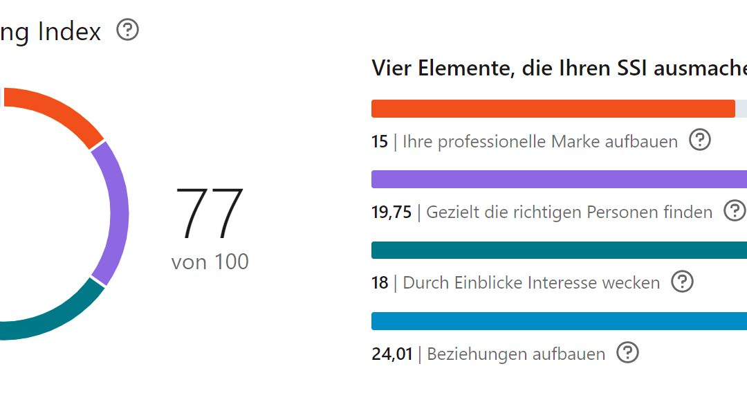 Social Selling Teil 5 – Was ist der LinkedIn Social Selling Index?